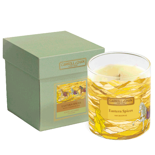 Eastern Spices Jar Candle, beeswax