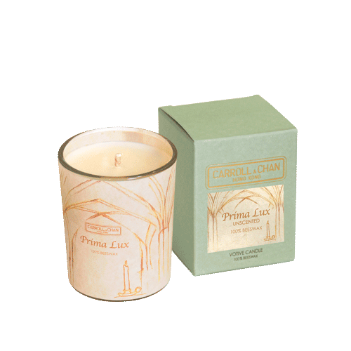 Unscented beeswax votive candle