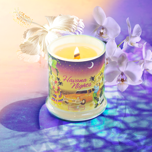 Havana Nights Scented Beeswax Candles
