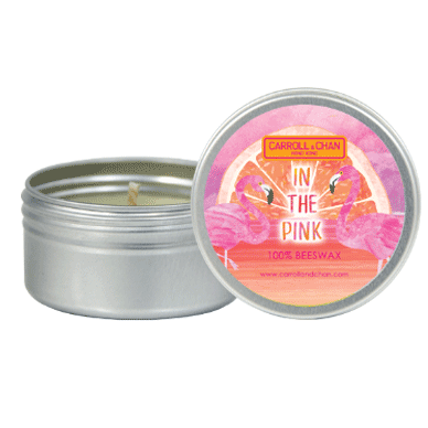 In The Pink mini tin can candle