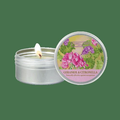 Geraniol & Citronella mini candle
