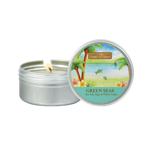 Green Seas Mini Tin Candle