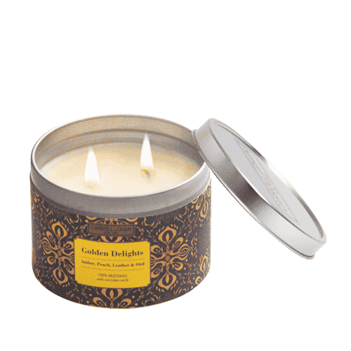 Golden Delights Tin Candle