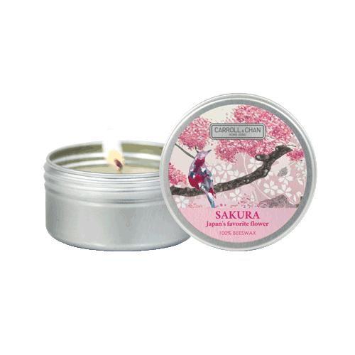 Sakura fragrance, mini tin candle