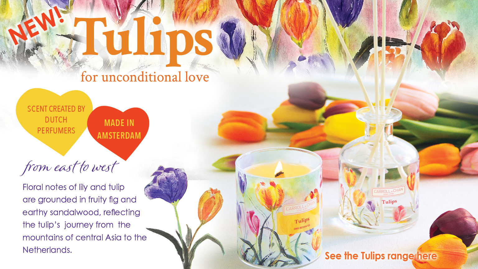 New Fragrance - Tulips candles and diffusers